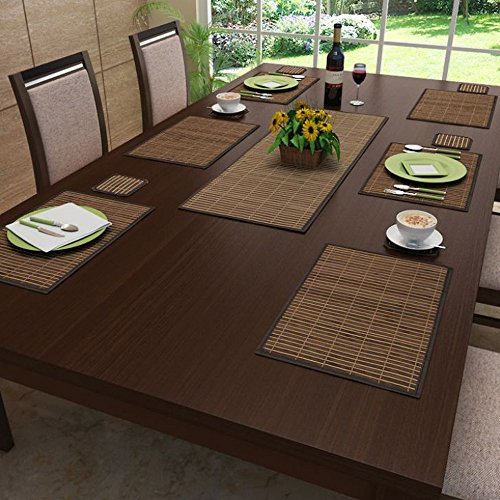 Freelance Bamboo Table Mats, Kitchen & Dining Placemats, Set of 6 pcs,...