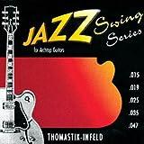 Thomastik-Infeld JS110 Jazz Swing Kit de cordes Flatwound pour guitare Calibre 10