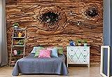 Wood Texture Vlies Fototapete Fotomural - Wandbild - Tapete - 312cm x 219cm / 3 Teilig - Gedrückt auf 130gsm Vlies - 12065VEXXL - Holzwände