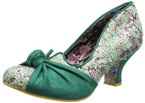 Irregular Choice - Dazzle Pants, Scarpe col tacco Donna Green (Green)