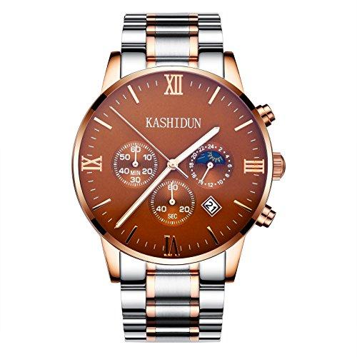 KASHIDUN -  -Armbanduhr- ZH-839 Herren Bulova Gold Diamant Uhr