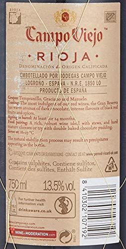 """Campo Viejo Rioja Gran Reserva, 75cl """"Spanish deep, complex and Silky barrel aged Rioja Red Wine"""""""