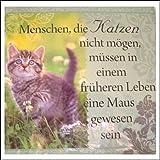 Unbekannt Geschirrtuch, mit Text über Katzen in Deutsch