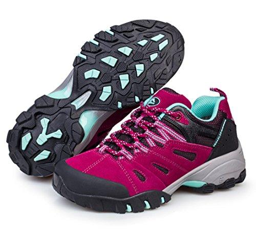 Chaussures de randonnée adulte unisexe Sportif Derbies chaussures d'hiver Rose