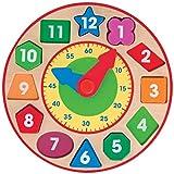 Melissa & Doug Shape Sorting Clock - Wooden Educational Toy