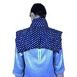 Cojin termico Grande Tipo Collarín Para Cuello y Hombros - Bolsa Térmica - Paquete Térmico - Almohada de Granos / Estrellas Azul