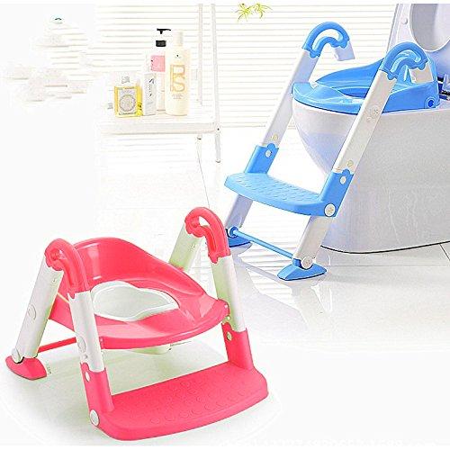 Toliettentrainer mit Leiter | Töpfchen | Baby / Kinder Toilette | Topf | Pink