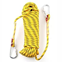 giarebeam Rock Climbing Rope 10/20 Meters, Outdoor Fire Escape Rescue Parachute Static Indoor Rope, Heavy Duty Rope, Diameter 10mm Safety Durable High Quality 2