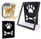 IREENUO New Style Hunde/Klappe Tür magnetisch Automatische Lock/verschließbar Pet Bildschirm Tür Hund Tor Way Pet Tür für Bildschirme (Außen Größe: 45,5 x 35,6 x 2 cm,Schwarz)