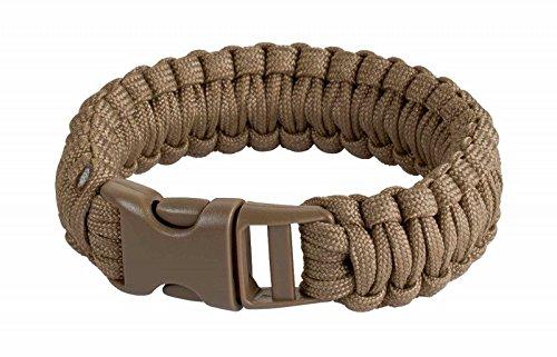 JG Survival Bracelet Coyote Brown 9inch