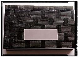 AlexVyan®-Genuine Accessory - Black cum Metal Visiting Card Holder/Credit /Debit card holder/Credit Card ATM Card Case Holder Credit Card Wallet