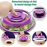 AmyGline Vacuum Food Sealer Mintiml Abdeckung Küche Instant Vacuum Food Sealer Frische Abdeckung-Food Cover Luftdichte Vakuum-Sealer Abdeckung, Küche Instant Vacuum Food Sealer (Lila)