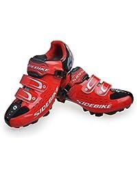 Skyrocket Chaussures de vélo de VTT (Rouge et Noir, EU43)