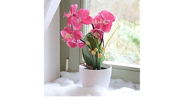 Led orchidea illuminazione batteria vaso pianta fiore 60cm