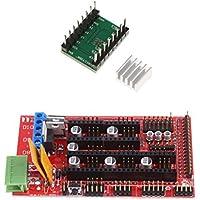 MagiDeal Controlador de Motor Pasos de Impresora 3D A4988 Disipadores de Calor Tarjeta de Controladores RAMPS 1.4