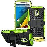 Motorola Moto G (3ª Generación) Funda, FoneExpert® Heavy Duty silicona híbrida con soporte Cáscara de Cubierta Protectora de Doble Capa Funda Caso para Motorola Moto G (3ª Generación) + Protector Pantalla (Green)