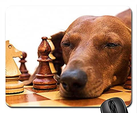 Oh my god, i'm tired after all this playing chess Mouse Pad, Mousepad (Dogs Mouse Pad)
