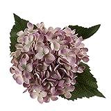 Sharplace Kunstblumen Blumenstrauß, Kunstseide, Hortensien - Lila Weiss, 50 cm