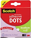 Scotch Permanent Adhesive Glue Dots - 8 mm, Pack of 300