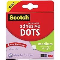 Scotch 010-300M Permanent Adhesive Glue Dots - 8 mm, Pack of 300 - ukpricecomparsion.eu
