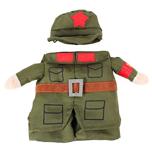 e Hund Soldat Kleidung Katze Weste Jacke Kostüm niedlich Kleidung Cosplay Kostüme Outfit Lieferungen (Niedliche Halloween-kostüme Für 2)