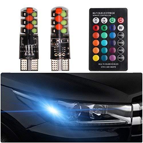 Shinfok 2 pezzi da 31 39 telecomando con 24 tasti. 36 luce per interno auto 41/mm RGB 5050/6SMD luce intermittente per calotta lettura mappa