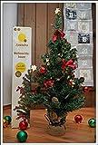 Geschmückter Weihnachtsbaum mit Lichterkette, Kugeln, Sternen etc. - Höhe ca. 75 cm
