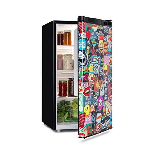 Klarstein Cool Vibe Nevera, Eficiencia energética A+, Volumen: 90 litros, VividArt Concepto:...