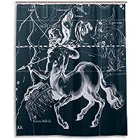 Tenda da doccia tenda bagno 152,4x 182,9cm, grafico costellazione Sagittario fantasia a prova di muffa in poliestere