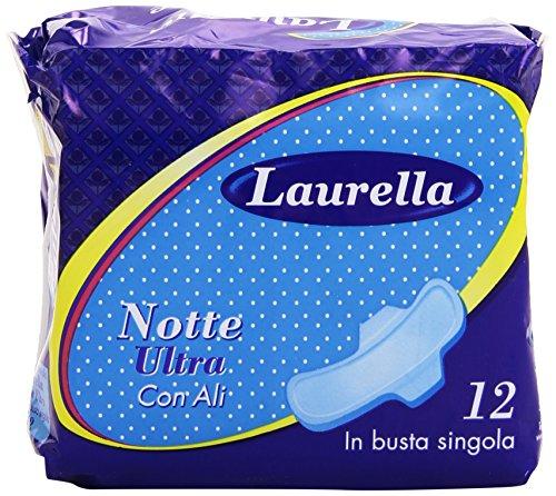 Laurella - Assorbenti Notte Ultra, con Ali, 12 Pezzi