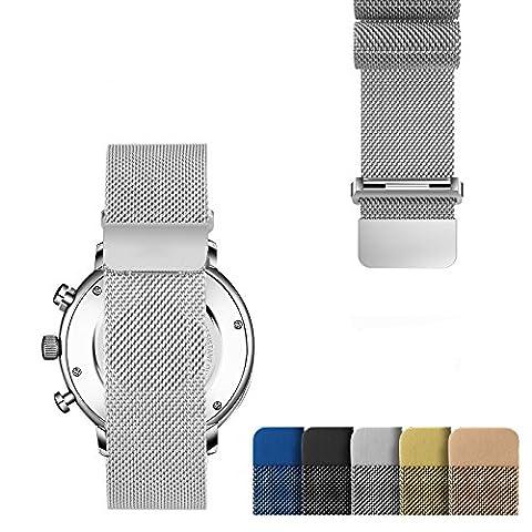 Milanese Uhrenarmbänder Ersatzband Großes mit Edelstahl Mehrfarbi Magnet-Verschluss für Männer