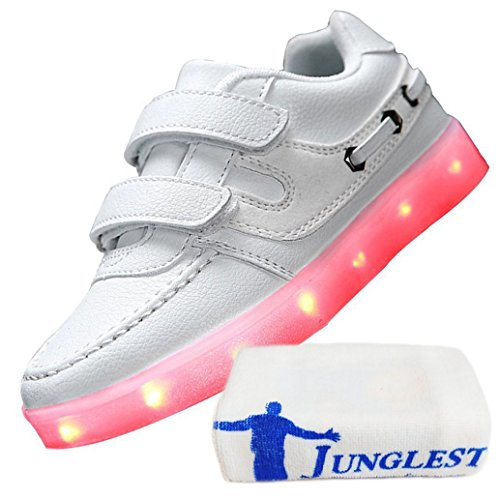 (Présents:petite serviette)JUNGLEST® - 7 Couleur Mode Unisexe Homme Femme USB Charge LED Chaussures Lumière Lumineux Clignotants Chaussures de marche Haut-Dessus LED Ch c42