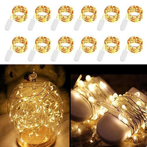 ED Sternen Schnur-Licht-Batteriebetriebene Lichterketten 3.3ft 10LEDs Dekorationen für Schlafzimmer Terrasse Garten-Geburtstags-Party Hochzeit Weihnachten DIY Crafing Home Decor ()