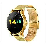 Joyeer Smart Watch Actividad Tracker Reloj de pulsera Bluetooth Smartwatch Monitor de ritmo cardíaco Pedómetro Dialing Business Watch Para Android IOS , gold