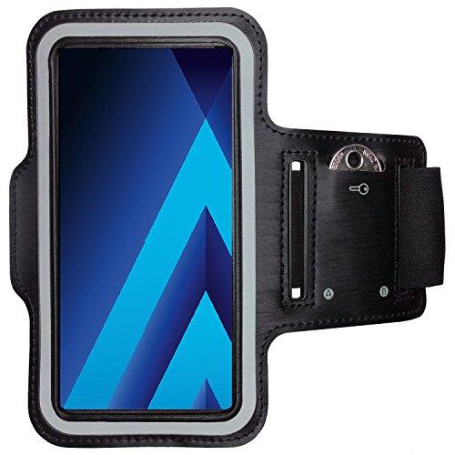 CoverKingz Samsung Galaxy A5 Sportarmband Fitness-Hülle Schwarz Jogging-Armband mit Schlüsselfach Handy-Lauf-Tasche Running-Case Handy-Tasche Sport Fitness-Armband