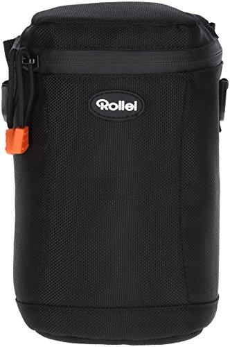 Rollei Fotoliner Objektivtasche L - hochwertiger und gepolsterter Objektivköcher für optimalen Schutz vor Staub und anderen Verschmutzungen, inkl. Tragegurt - Größe: 12 x 12 x 20 cm