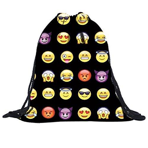 fortan-limpression-3d-smiley-unisexes-sacs-sacs-a-dos-cordon-sac