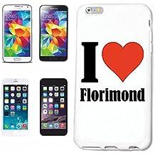 """cubierta del teléfono inteligente iPhone 7S """"I Love Florimond"""" Cubierta elegante de la cubierta del caso de Shell duro de protección para el teléfono celular Apple iPhone … en blanco ... delgado y hermoso, ese es nuestro hardcase. El caso se fija con un clic en su teléfono inteligente"""