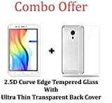 #9: M.G.R.J [ Coolpad Mega 3 ] Transparent Back Cover + Ballistic Tempered Glass Screen Protector - Maximum Impact Protection -99.9% Crystal Clear HD Glass - No Bubbles