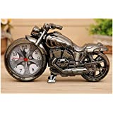 A menudo Vintage motocicleta Alarm Clock Despertador Motorcycle mesa Reloj Quartz Reloj Reloj de pie