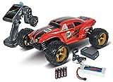 Carson 500409021 500409021-1:8 Beat Crusher 4WD 3S 2.4G 100% RTR, Ferngesteuertes Auto, RC-Fahrzeug, inkl. Batterien und Fernsteuerung, 2,4 GHz, rot
