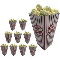 Vynche Boite Pop Corn Paquet De 10 Boîtes Pop Corn Au Design Rétro pour des Soirées Cinéma À La Maison Ou des Soirées À…