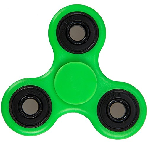 Fidget Spinner 608 Four Bearing Amazing Spin Time ! Premium Quality Material Best Value for Money Hand Spinner Tri-Spinner Ultra Speed Toy (GREEN)