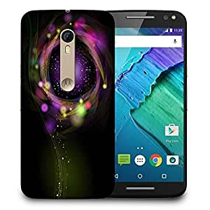 Snoogg Sparkling Circle Design Printed Protective Phone Back Case Cover for Motorola X Style