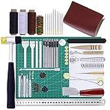 collar.y Lederbearbeitungs-Set, DIY Leder Werkzeuge handgefertigte Leder Werkzeuge Set Handschlitz hacken Handwerk Anzug Hand Nähte Cutter
