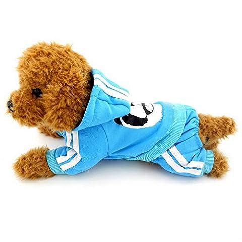 ranphy Kleiner Hund Kleidung für Mädchen Jungen Dick Warm Panda