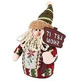 Kingnew Weihnachtsmann Schneemann Rentier Plüsch Puppe Dekorationen Weihnachten Home Party Weihnachtsbaum Hängende Dekorationen Dekor Geschenk (Santa)
