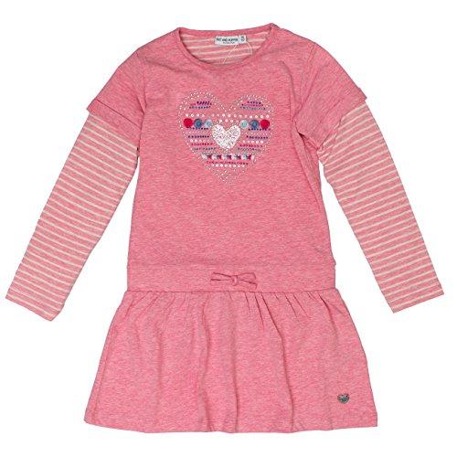 (SALT AND PEPPER Mädchen Kleid Dress Wild Heart 2in1, Pink (Fuchsia Melange 839), 116 (Herstellergröße: 116/122))
