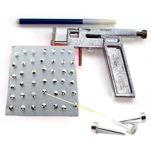 Andonger Ear Acciaio Body Piercing Gun Pierce metallo Tool Kit