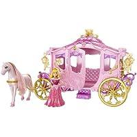Mattel W5929 - Disney Princess Königliche Kutsche mit Platz für 4 Prinzessinnen, Zubehör